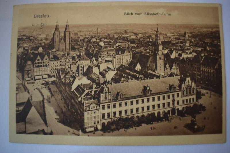 Ak Breslau, Wroclaw, Blick vom Elisabeth-Turm, 1929 gelaufen
