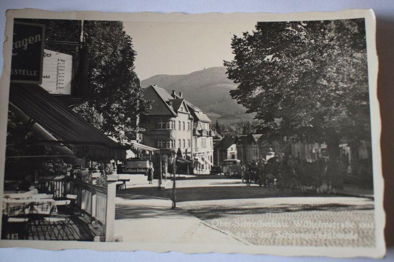 Ak Ober-Schreiberhau, Wilhelmstraße Blick nach der Schneegrubenbaude, 1937 gel.