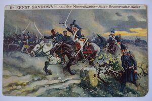 Ak Dr. Ernst Sandow´s künstliche Mineralwasser - Salze, Die Völkerschlacht 1813