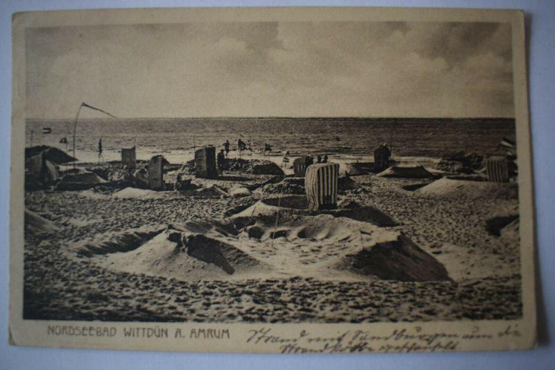 Ak Nordseebad Wittdün A. Amrum, 1925 gelaufen