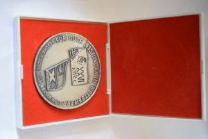 Medaille Für Gute Leistungen im Wettbewerb Baschkirische Assr Bezirk Halle, Etui