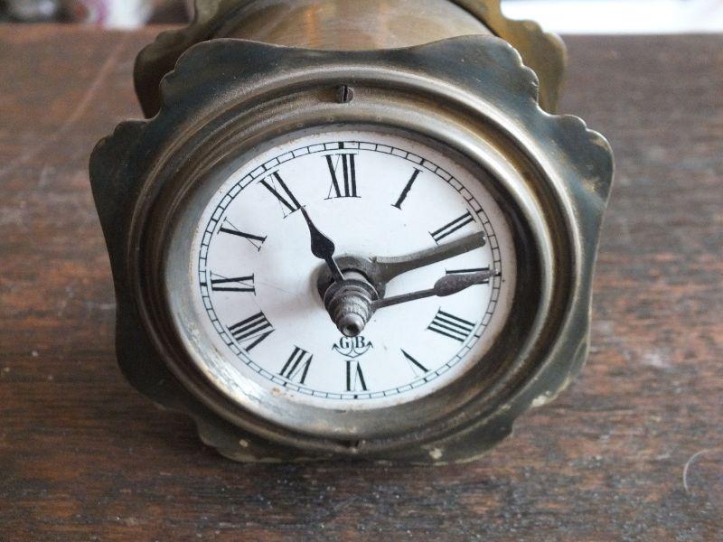 Schöne Reiseuhr Uhr mit Wecker, Gründerzeit, Gustav Becker, volle Funktion TOP!