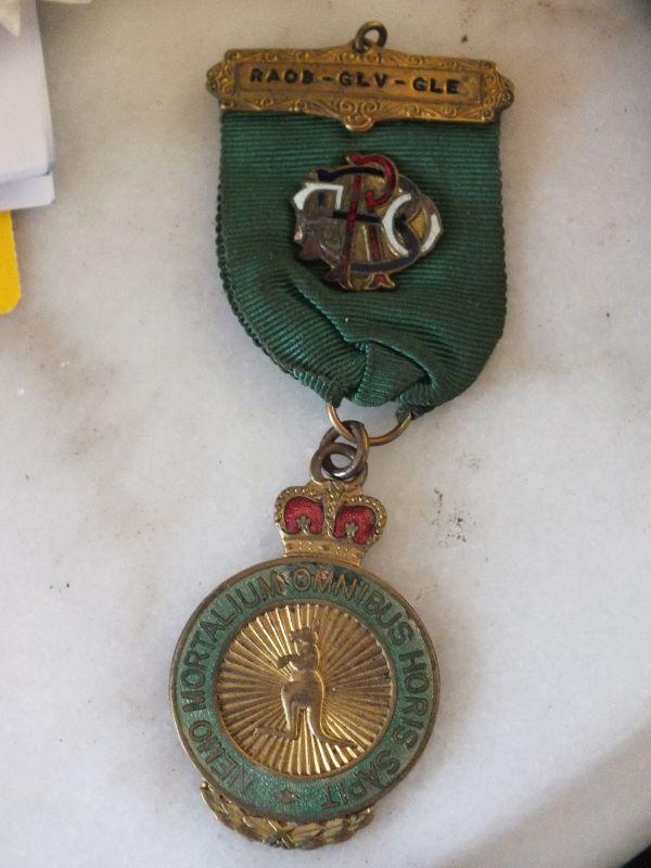 Royal Antediluvian Order of Buffaloes, Pins, 25.10.1967