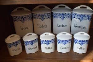 9 Schöne Behälter für die Küche, Deko oder zum Benutzen, Top Zustand!!!