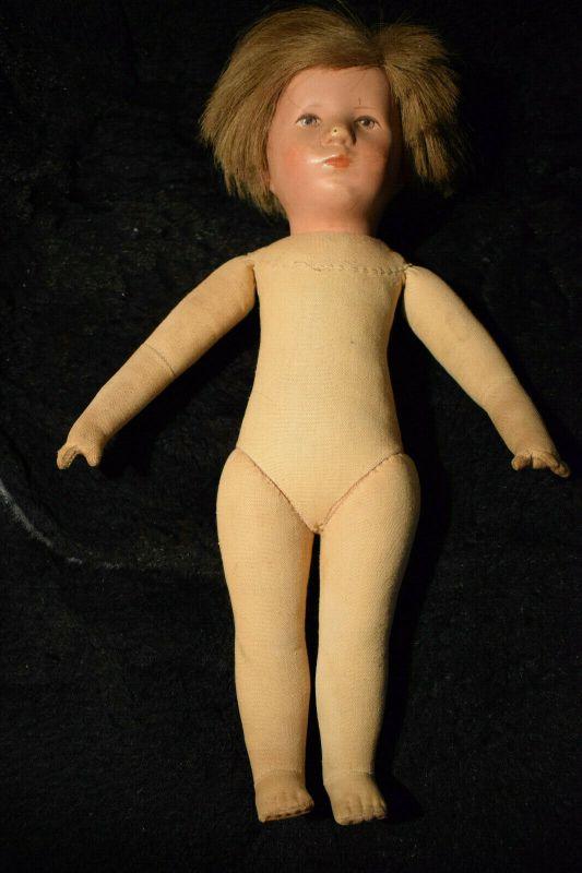 Käthe Kruse Puppe, 36cm groß, Stoffkörper