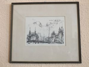 Lithographie Moskau 2, Karl Erich Müller von 1971 Künstler aus Halle /Saale