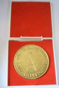 Medaille 10 Jahre 1975 FDJ Studentenbrigaden Gold im Etui