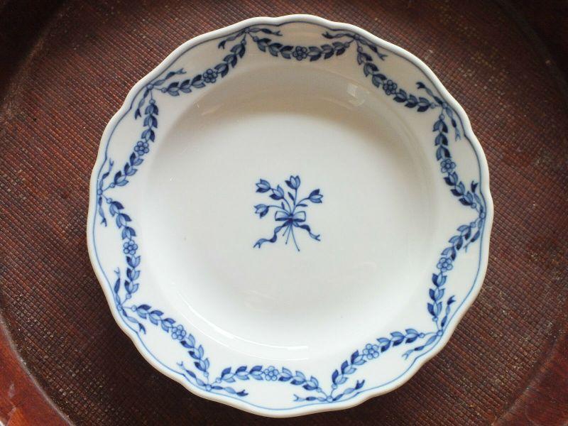 Meissen Teller, Lorbeer blau, unterglasurblaue Marke, 18,2cm, alte Marke TOP!!!