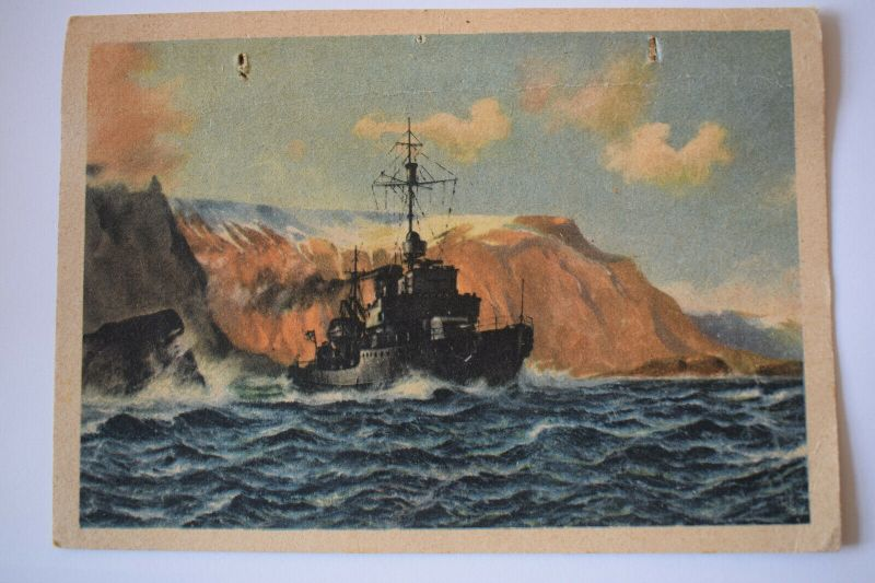 Ak Deutsches Minensuchboot auf Sicherheitsfahrt, 1943 gelaufen