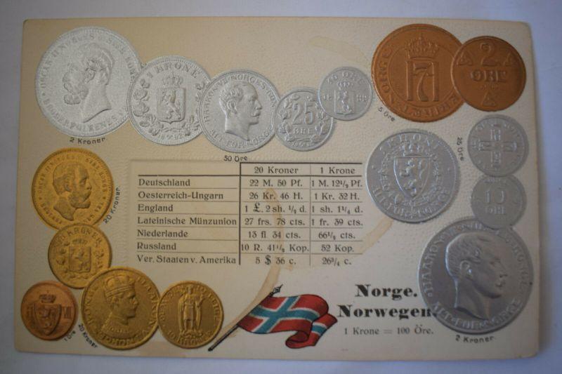 Ak Norwegen, Geldkarte, nicht gelaufen, um 1900