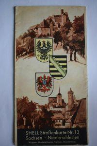 Shell Straßenkarte Nr. 13, Sachsen - Niederschlesien