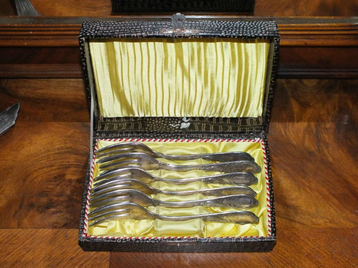 6 Kuchengabeln, FPF 100 Auflage in Schachtel TOP