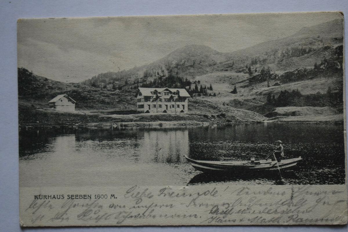 Ak Kurhaus Seeben, 1905 gelaufen