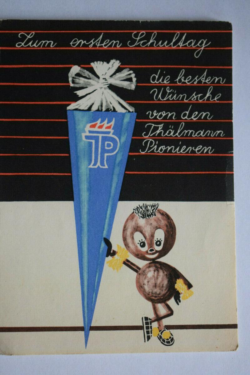 Ak Zum ersten Schultag, Thälmann Pioniere, 1965 nicht gelaufen, Junge Pioniere
