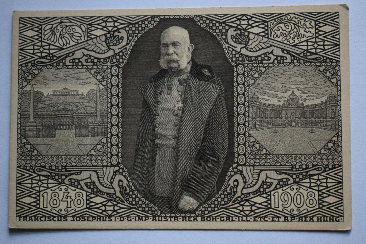 Ak Franciscus Josephus, König von Österreich/Ungarn, 1848 - 1908, nicht gelaufen