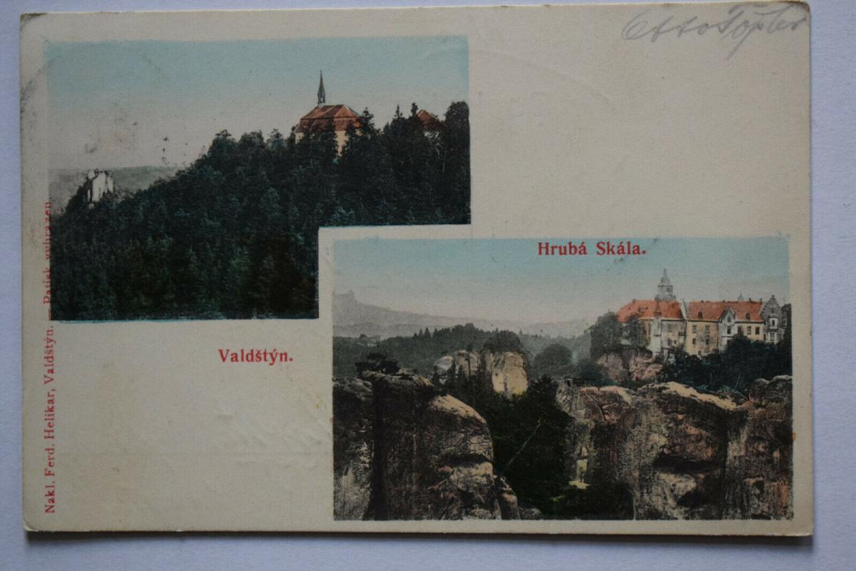 Ak Hruba Skala, Valdstyn, 1905 gelaufen