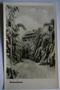 Ak Zittauer Gebirge, Hochwaldbaude, 1955 nicht gel., Verlag Mattuscheck, Görlitz