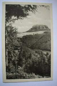 Ak Sächs. Schweiz, Fels Pfaffenstein, nicht gelaufen, Verlag Liebner, Königstein