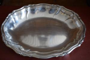 Schöne Schale, Tablett, 835 Silber WTB, Halbmond und Krone