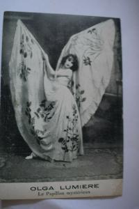 Ak Olga Lumiere, Le Papillon mystérieux, um 1900 nicht gelaufen