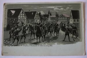 Ak Gruss aus Der Kronprinz in Fröschweiler am Abend des 6. August 1870, um 1900