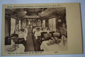 Ak Mitropa Mitteleuropäische Schlafwagen- und Speisewagen A.-G. NW. 7 nicht gel.