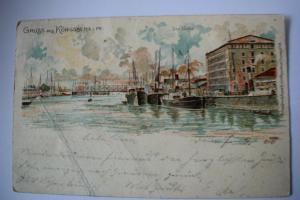 Ak Gruss aus Königsberg 1900 gelaufen