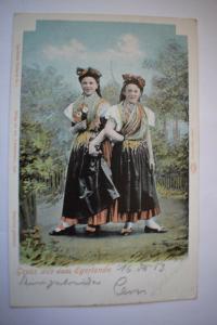 Ak Gruss aus dem Egerlande,1903 gelaufen