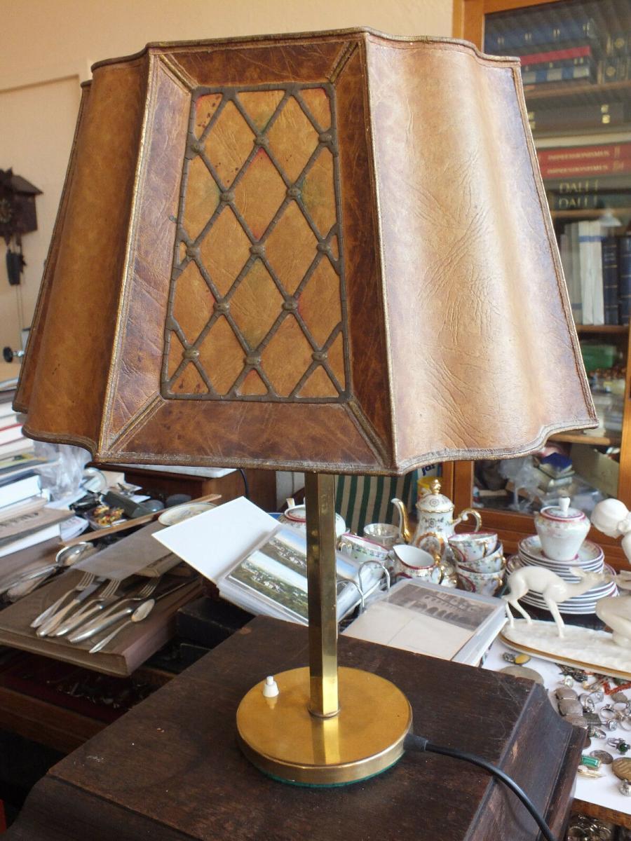 Wunderschöne Tischlampe, Messing, voll funktionstüchtig, um 1920 TOP! 0