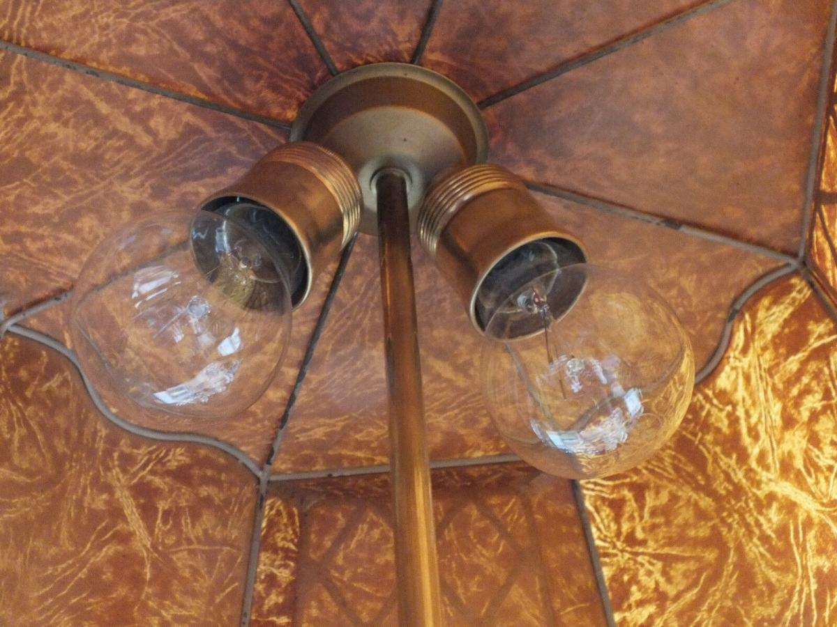 Wunderschöne Tischlampe, Messing, voll funktionstüchtig, um 1920 TOP! 3