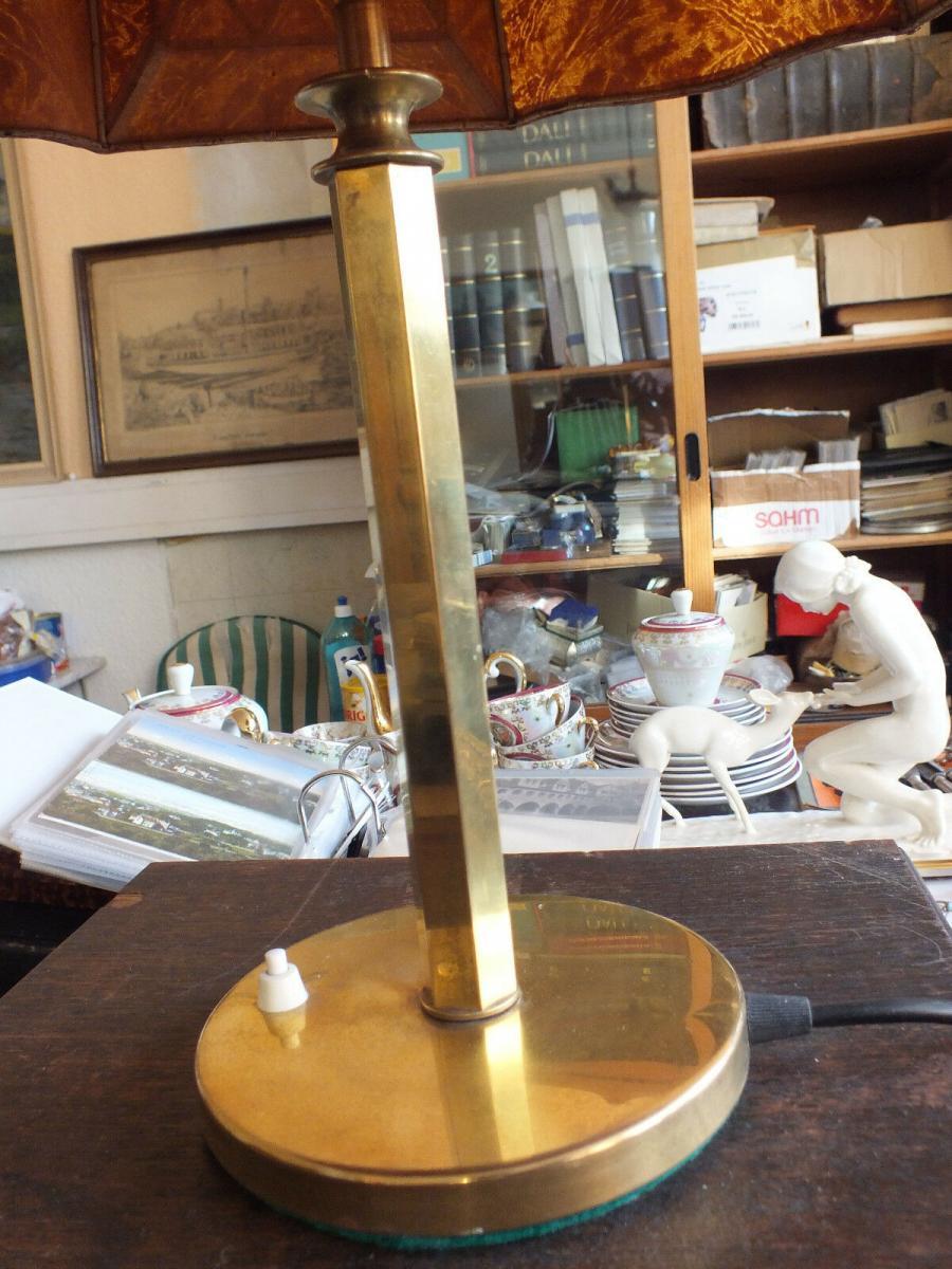 Wunderschöne Tischlampe, Messing, voll funktionstüchtig, um 1920 TOP! 4