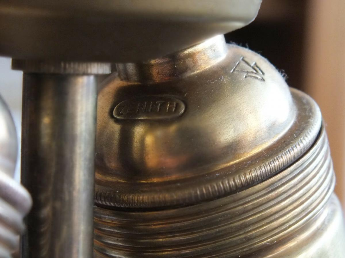 Wunderschöne Tischlampe, Messing, voll funktionstüchtig, um 1920 TOP! 9