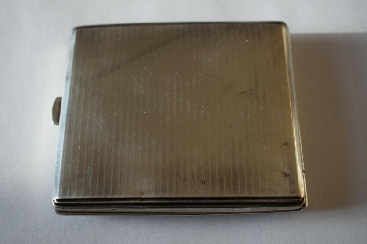 Zigarettenetui, Silber 835 Halbmond Krone, von 1941, Monogramm H L 1