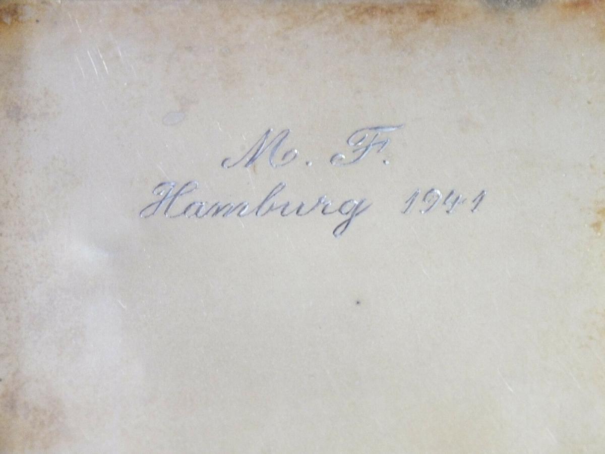 Zigarettenetui, Silber 835 Halbmond Krone, von 1941, Monogramm H L 4
