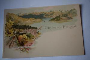 Ak Gruss aus Vitznau, Vitznau von der Rigi-Bahn, um 1900 nicht gelaufen