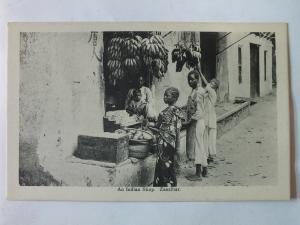 Ak Sansibar, Zanzibar, An Indian Shop, um 1910 nicht gelaufen, Verlag Gomes & So