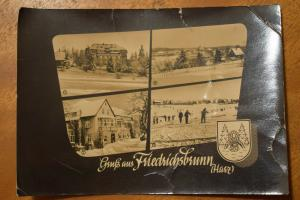 AK Friedrichsbrunn,  Gruß aus um 1963, Heldge Karte