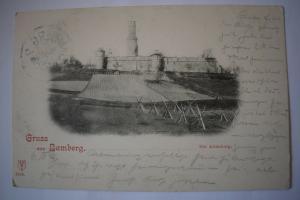 Ak Gruss aus Bamberg Die Altenburg 1902 gelaufen
