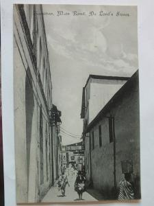 Ak Sansibar, Zanzibar, Main Road, De Lord´s Stores, um 1910 nicht gelaufen