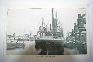 Ak Stettin, Szczecin, Freihafen, nicht gelaufen um 1900