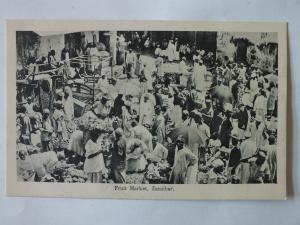 Ak Sansibar, Zanzibar, Fruit Market, um 1910 nicht gelaufen, Verlag Gomes & Son