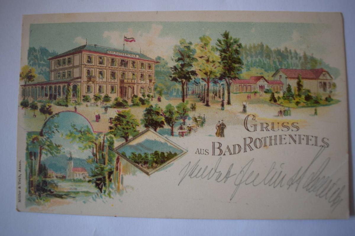 Ak Gruss aus Bad Rothenfels, 1897 gelaufen 0