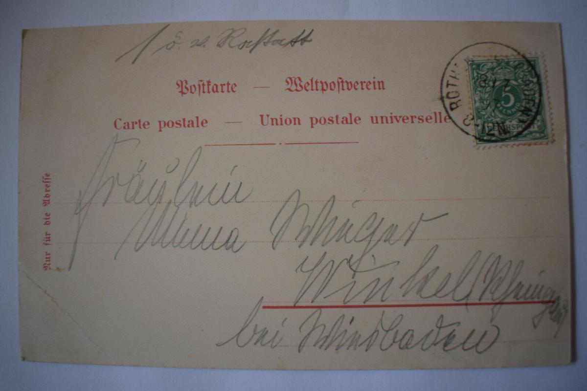 Ak Gruss aus Bad Rothenfels, 1897 gelaufen 1