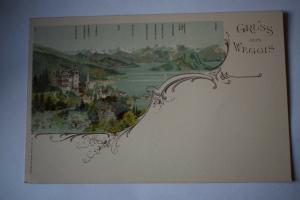 Ak Gruss aus Weggis,  um 1900 nicht gelaufen