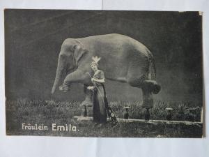 Ak Fräulein Emilia, Gruß aus dem Manegezirkus Carl Holzmüller, nicht gel.