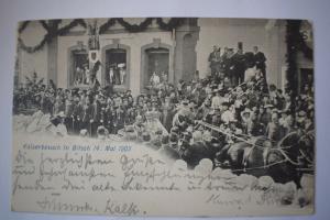 Ak Kaiserbesuch in Bitsch 14. Mai 1903, 1903 gelaufen