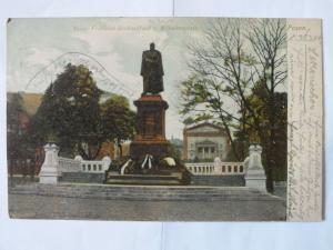 Ak Posen, Kaiser Friedrich Denkmal, auf dem Wilhelmsplatz, 1904 gel.,