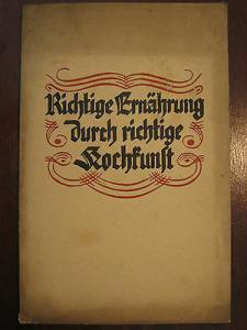 Werbeheft LIEBIG FLEISCHEXTRAKT Gesellschaft Richtige Ernährung, 50 S. von 1930