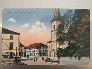 AK Cirey, Marktplatz mit Kirche, gel. 1917