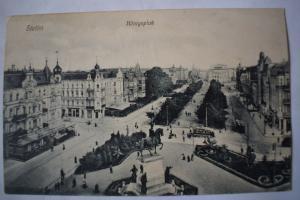 Ak Stettin, Szczecin, Königsplatz, 1909 gelaufen
